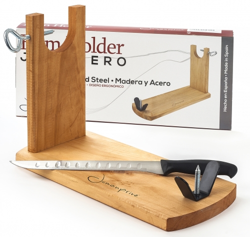 Ham stand and carving knife Bench Jamonprive - ham holder image #1