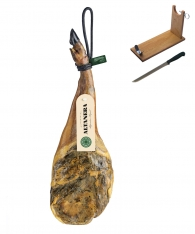 Iberico ham (shoulder) grass-fed Altadehesa + ham stand + knife