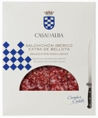 Ibérico Salchichon Pork Sausage Acorn-Fed hand-sliced Casa de Alba